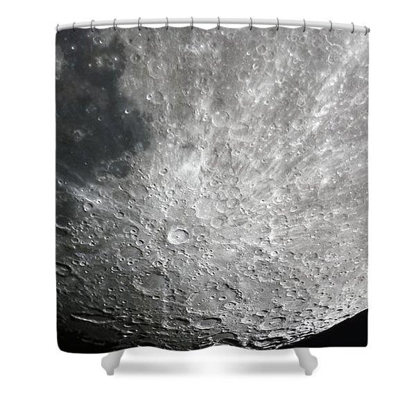 Moon Hi Contrast Shower Curtain