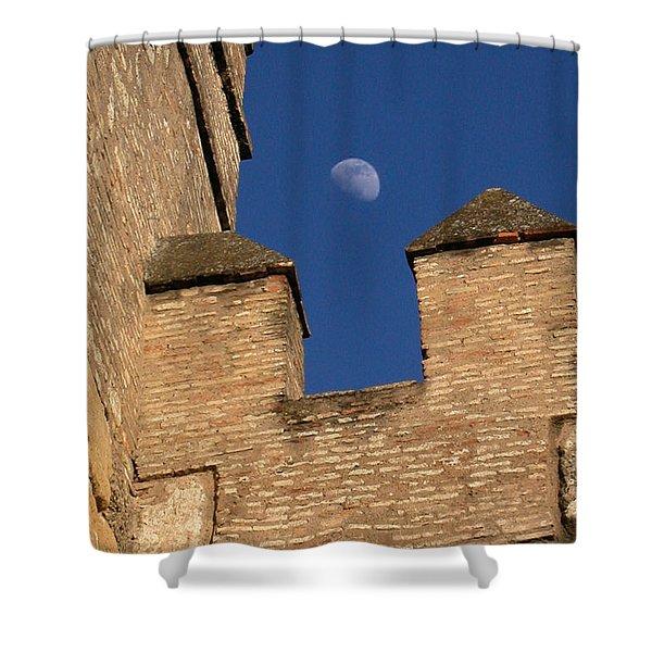 Moon Over Alcazar Shower Curtain