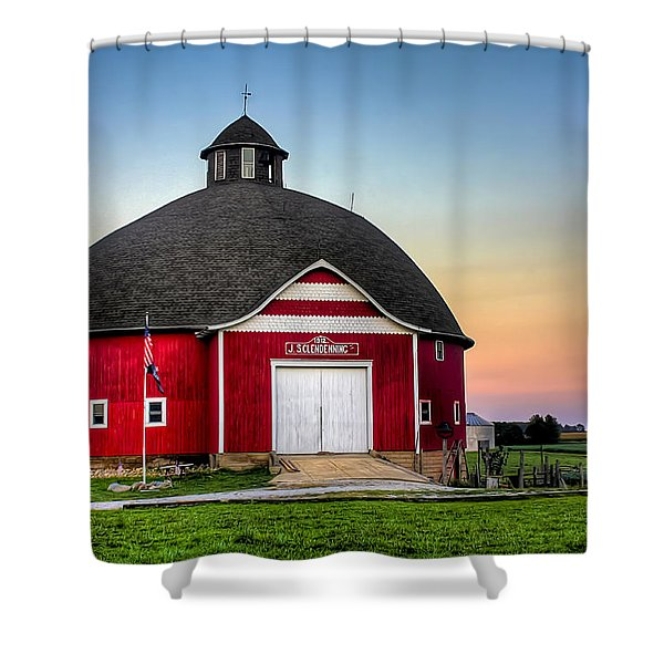 Moon Over Mulberry Shower Curtain