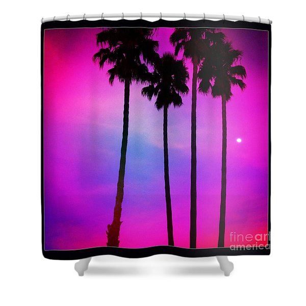 Moon Palms Shower Curtain