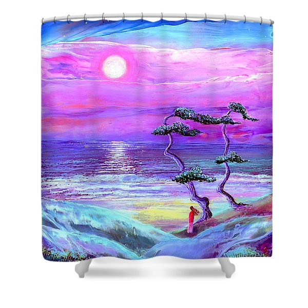 Moon Pathway,seascape Shower Curtain