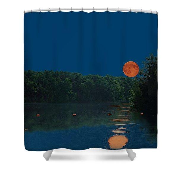 Moon Shot Shower Curtain