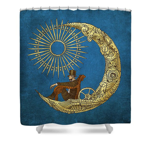 Moon Travel Shower Curtain