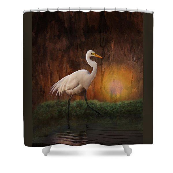 Shower Curtain featuring the photograph Moon Walk by Melinda Hughes-Berland