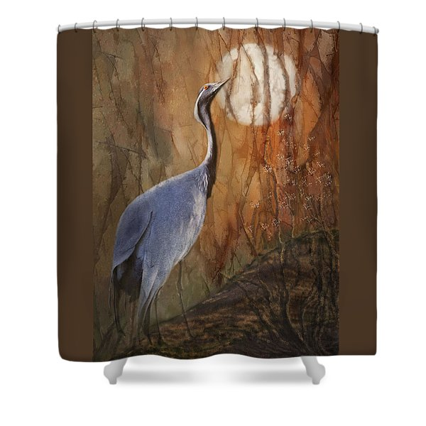 Shower Curtain featuring the photograph Moon Watch by Melinda Hughes-Berland