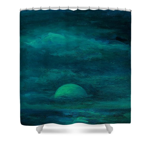 Moonlight On The Water Shower Curtain