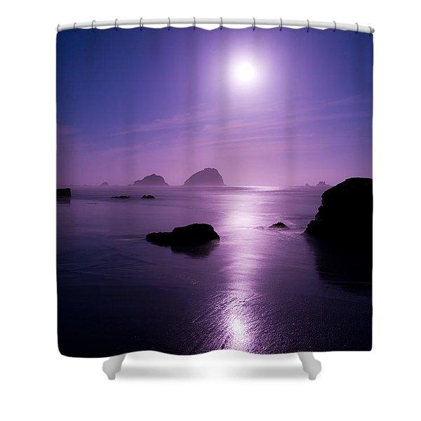 Moonlight Reflection Shower Curtain