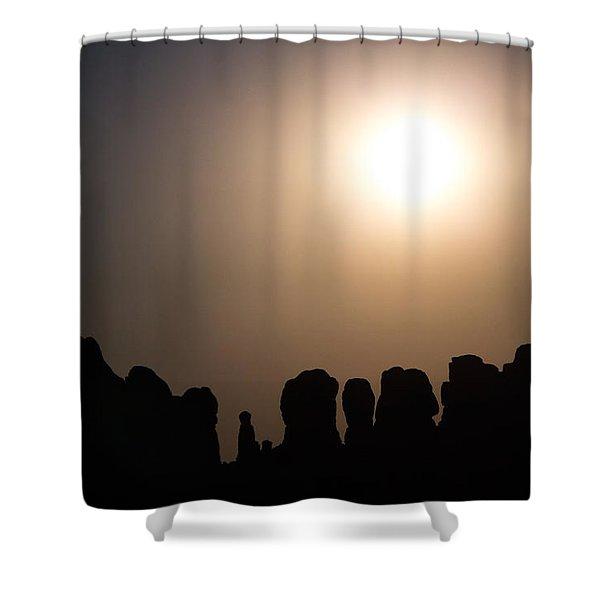 Moonrise Over Eden Shower Curtain