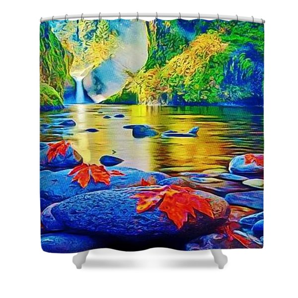 More Realistic Version Shower Curtain