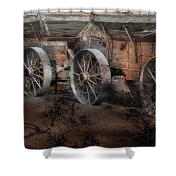 Shower Curtain featuring the photograph More Wagons East by Gunter Nezhoda