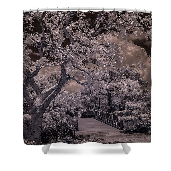 Morikami Gardens - Bridge Shower Curtain