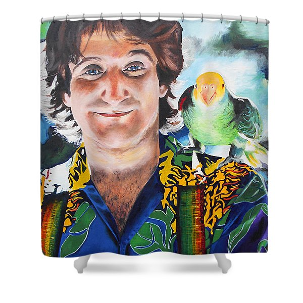 Mork And Cora Shower Curtain