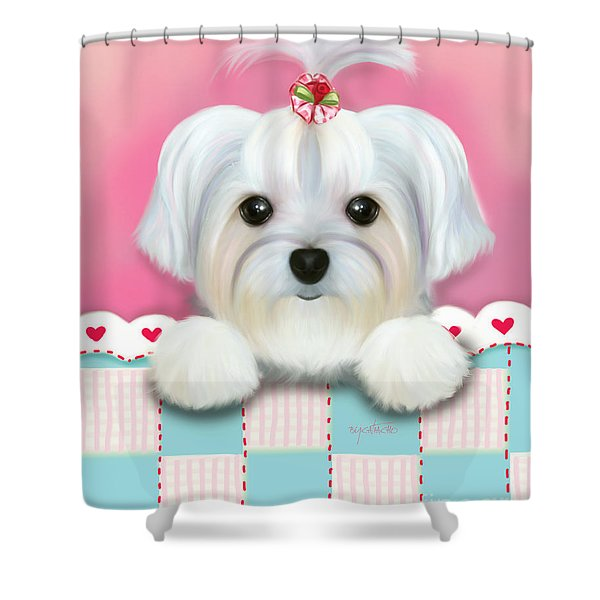 Morkie Shelly Shower Curtain