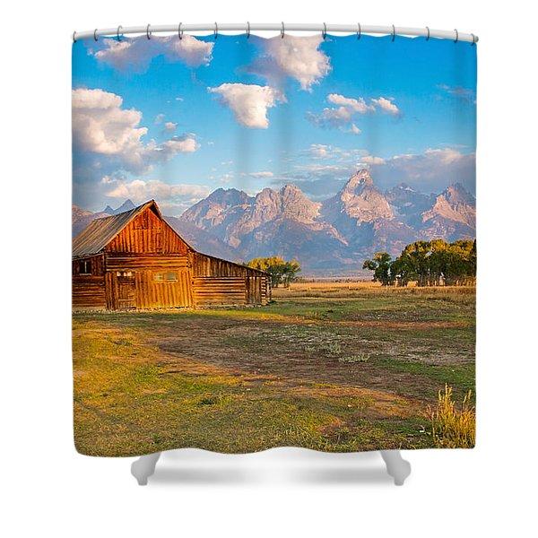 Mormon Row And The Grand Teton Shower Curtain