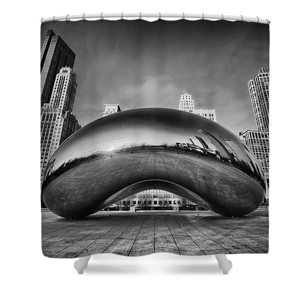 Morning Bean In Black And White Shower Curtain