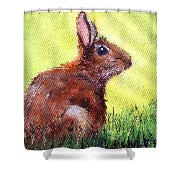 Morning Bunny Shower Curtain