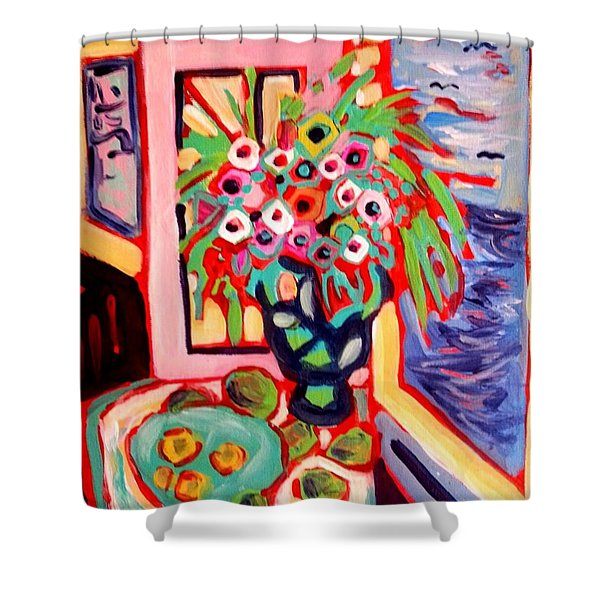 Morning Floral Shower Curtain