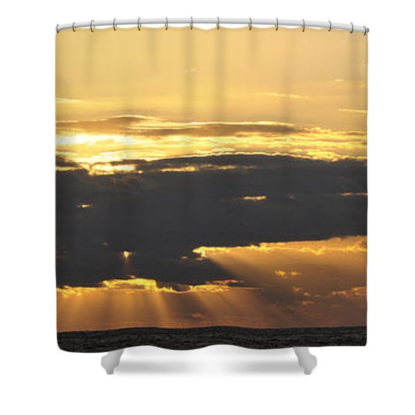 Morning In The Oilfield Shower Curtain