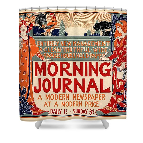 Morning Journal Shower Curtain
