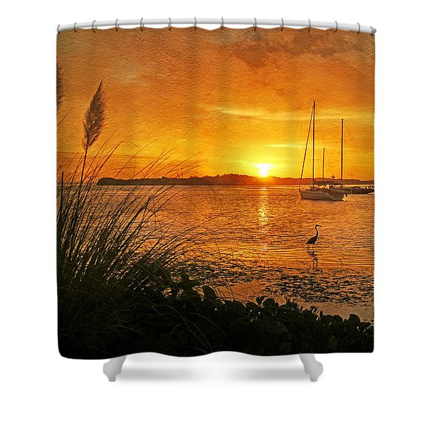 Morning Light - Florida Sunrise Shower Curtain