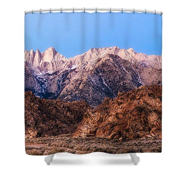 Morning Light Mount Whitney Shower Curtain