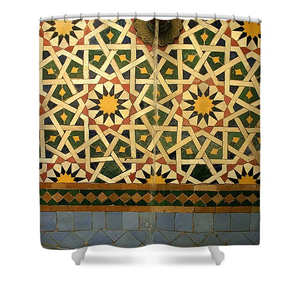 Moroccan Water Fountain Shower Curtain by Ralph A  Ledergerber-Photography