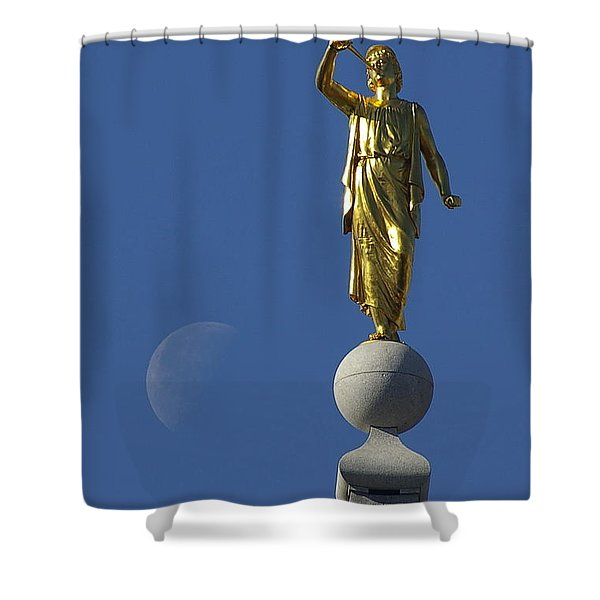 Moroni And The Moon Shower Curtain