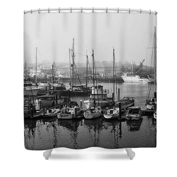 Moss Landing Harbor Shower Curtain