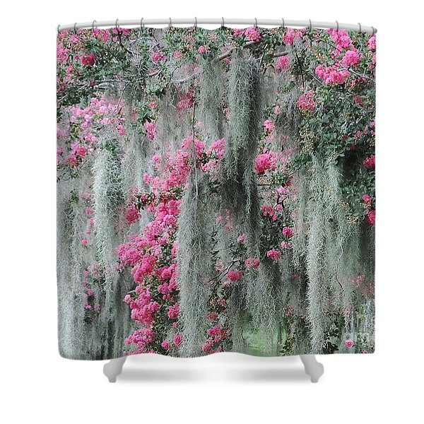 Mossy Crepe Myrtle Shower Curtain