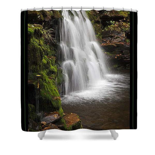 Mossy Wilderness Waterfall Cascade Shower Curtain