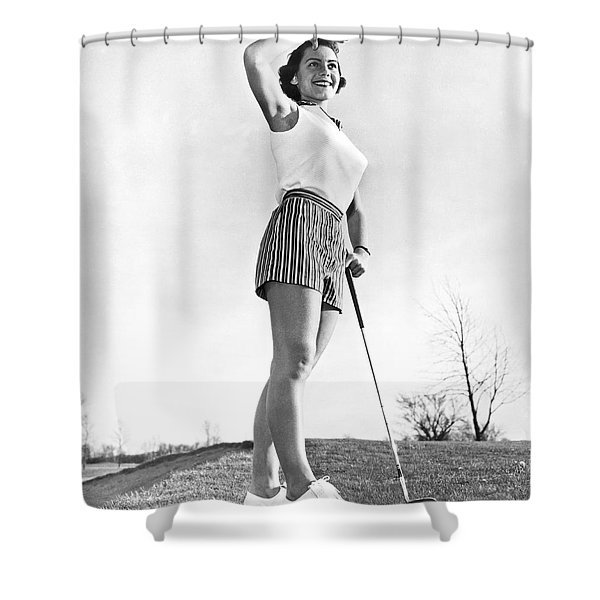Most Beautiful Golfer Of 1957 Shower Curtain