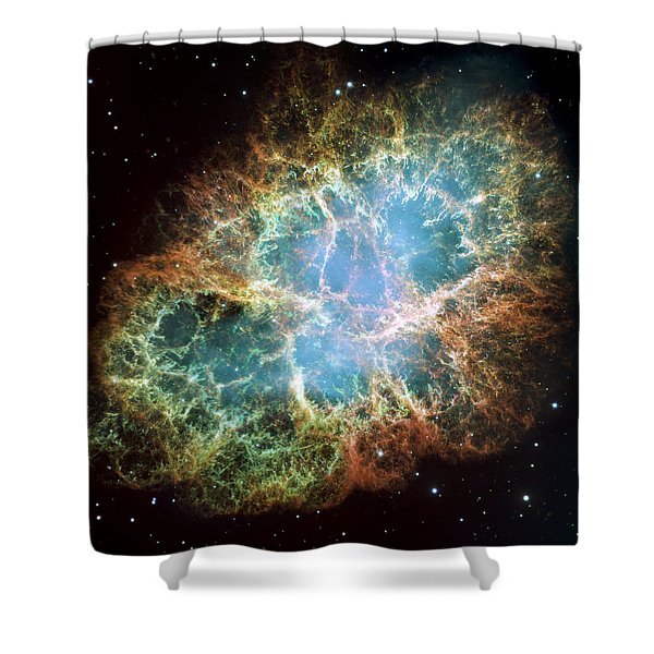 Most Detailed Image Of The Crab Nebula Shower Curtain