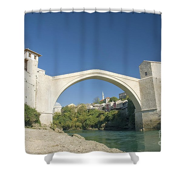 Mostar Bridge In Bosnia Shower Curtain