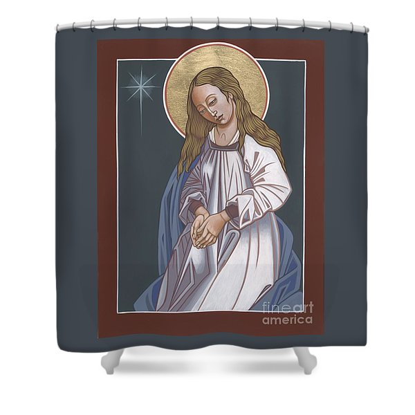 Mother Of God Waiting In Adoration 248 Shower Curtain