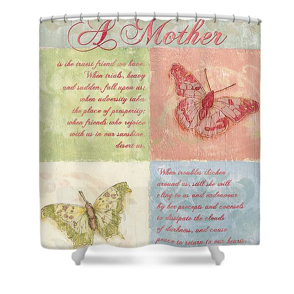 Mother's Day Butterfly Card Shower Curtain