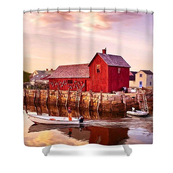 Motif Number One Rockport Massachusetts  Shower Curtain