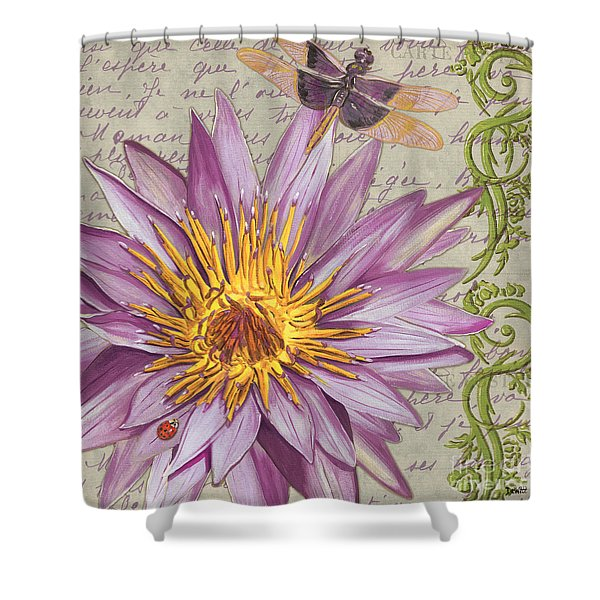 Moulin Floral 1 Shower Curtain