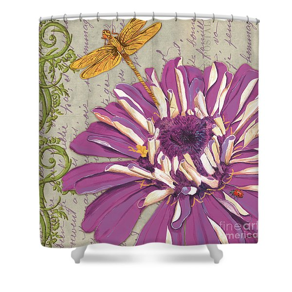 Moulin Floral 2 Shower Curtain