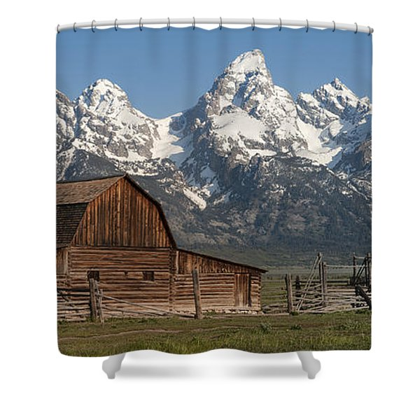 Moulton Barn - Grand Tetons I Shower Curtain