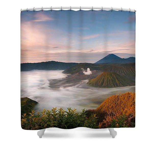 Mount Bromo Sunrise Shower Curtain