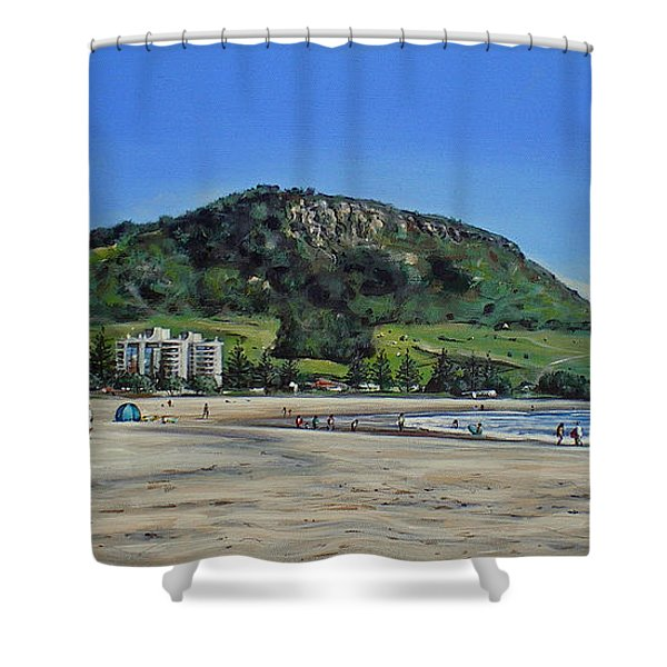 Mount Maunganui Beach 151209 Shower Curtain