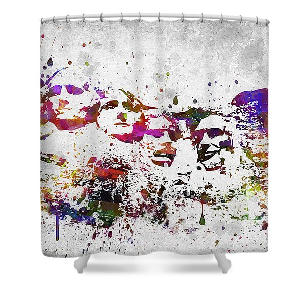 Mount Rushmore National Memorial In Color Shower Curtain
