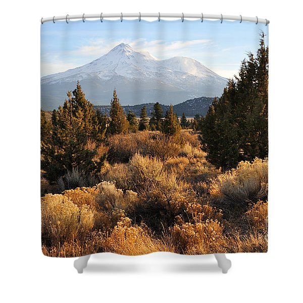 Mount Shasta In The Fall  Shower Curtain