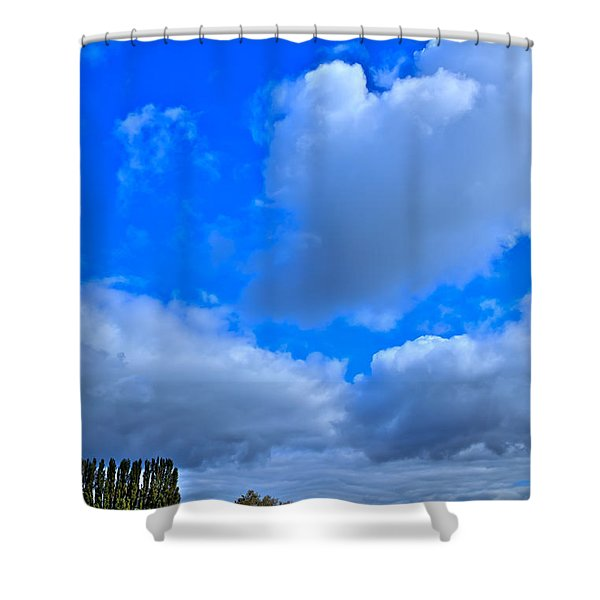 Mount Vernon Farm In Washington State Shower Curtain