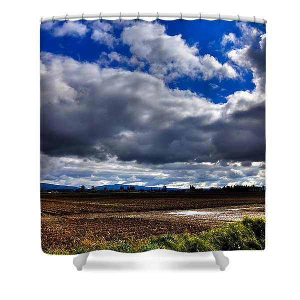 Mount Vernon Farmland - Washington State Shower Curtain