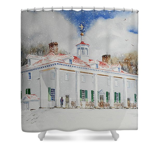 Mount Vernon In The Snow Shower Curtain