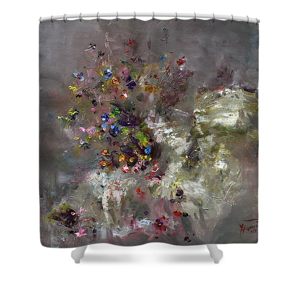 Mountain Flowers Shower Curtain