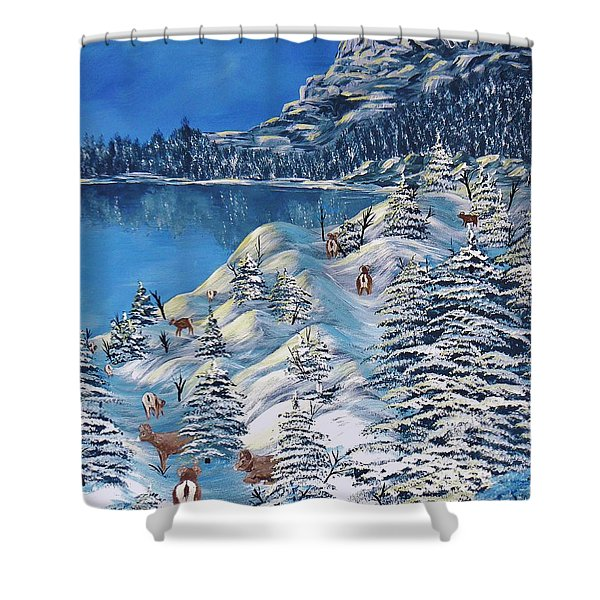 Mountain Goats Of Grand Forks Shower Curtain