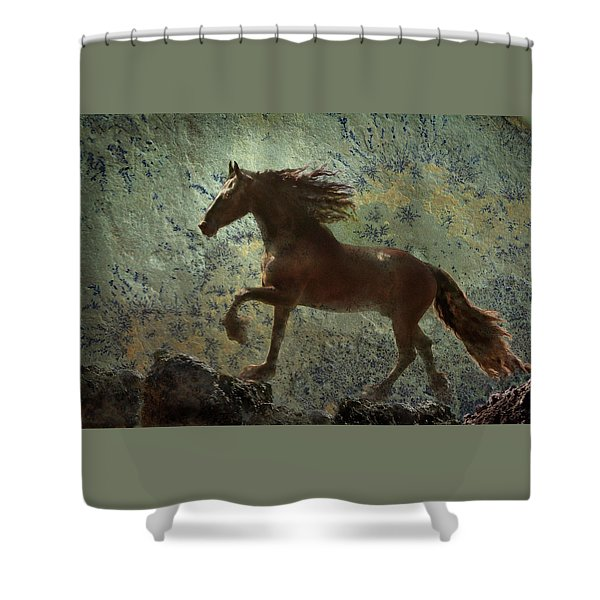 Shower Curtain featuring the photograph Mountain Majesty by Melinda Hughes-Berland