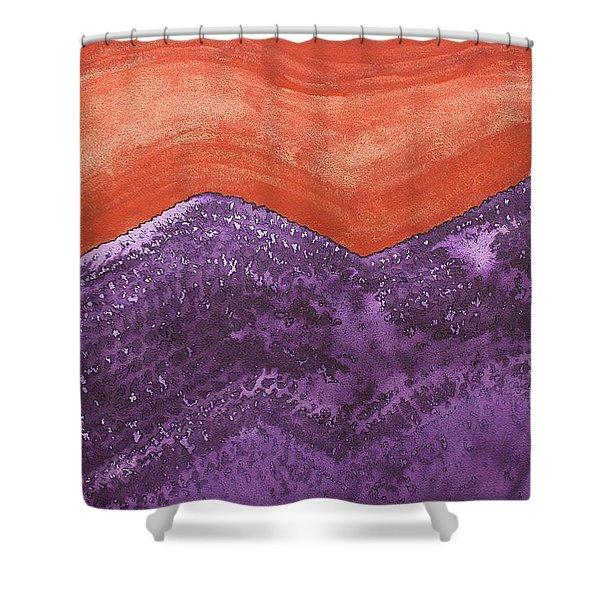 Mountain Majesty Original Painting Shower Curtain